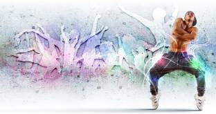 Music Dance Hip Hop Style HD Wallpaper Background Fine Art Print