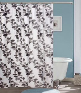 YELLOW WEAVES PVC Multicolor Floral Shower Curtain