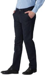 Urbano Fashion Slim Fit Men's Dark Blue Trousers