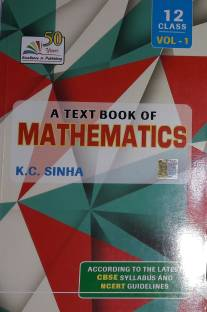K C  SINHA A Text Book Of Mathematics Class 12 Vol-2 (2018