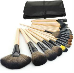 Yoana Professional Series Makeup Brush Set With Leather Pouch