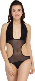 f00d4c42471e4 N-Gal Sexy Slant Side One-piece Swimsuit Solid Women s Swimsuit ...