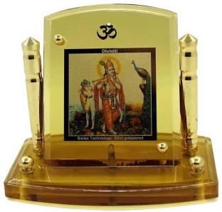 Indian Gift Emporium Radha Krishna Photo Frame Wooden Jharokha Gift