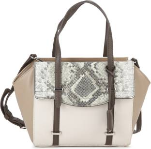 Nine West Women White Multicolor Genuine Leather Sling Bag