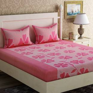 Zesture Cotton Floral Queen sized Double Bedsheet. Home Furnishing   Buy Home Furnishing Online at Best Price in