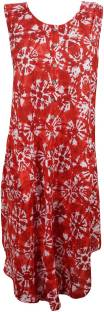 Indiatrendzs Women's A-line Red Dress