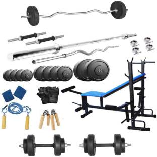 Protoner 50 kg with 8 in 1 Bench home Home Gym Combo
