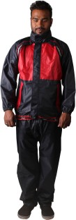 Mototrance Self Design Men's Raincoat