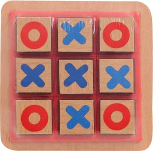 AWALS Wooden Tic Tac Toe Junior Game for Kids Strategy & War Games Board Game