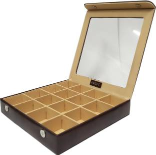 ae9a02356e5 Essart 10080-Snakebit Brown Makeup and Jewellery Vanity Box