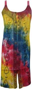 Indiatrendzs Women's Shift Multicolor Dress