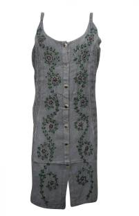 Indiatrendzs Women's Shift Grey Dress