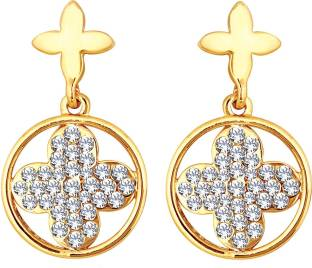 a89a35732 Spargz Lattice Design With Flower & Cross Earrings For Women Diamond Alloy  Dangle Earring