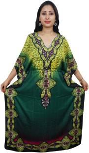 Indiatrendzs Printed Light Viscose Women's Kaftan