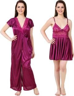 1257526e71 Hot N Sweet Women s Nighty with Robe - Buy Green Hot N Sweet Women s ...