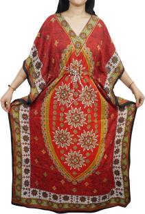 Indiatrendzs Printed Light Viscose Women's Kaftan