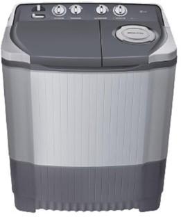 lg 65 kg semi automatic top load washing machine grey