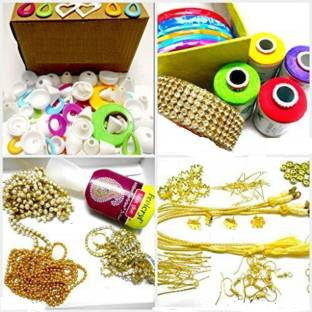 Do it yourself kits toys buy do it yourself kits toys online at am silk thread jewelery making fully loaded box with all accessories solutioingenieria Image collections