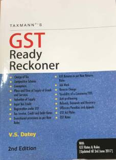 GST Ready Reckoner With GST Rates & Rules [ Updated till 3rd June 2017]