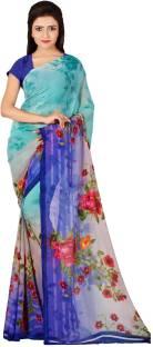 Divastri Floral Print Daily Wear Faux Georgette Saree