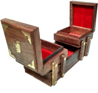 bb82a22602a Knott Jewellery Make up Case jewellery Vanity Box Price in India ...