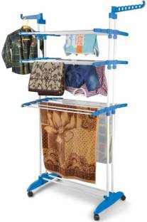 TNC Premium Quality 3 layer Clothes Rack Hanger Carbon Steel Floor Cloth Dryer Stand