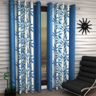 IndiaFurnish Polyester Door Curtain 214 Cm (7 Ft) Pack Of 3