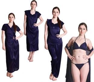 Fasense Women Nighty Set - Buy Navy Blue Fasense Women Nighty Set ... 155c7562a