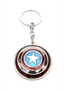 24x7 Rotating Premium The Avengers Captain America Shield Metal Keychain  with Realistic Detailing Key Chain 19bdc9915c