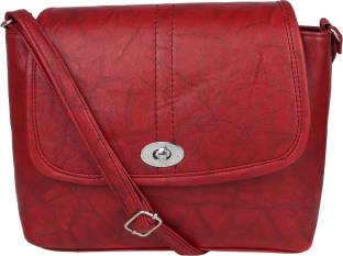 f4f99e9dbd Jag Women Maroon Genuine Leather Sling Bag Maroon - Price in India ...