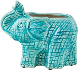 Chumbak Elephant II Earthenware Vase