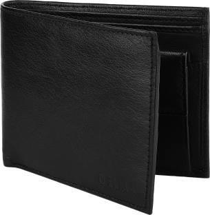 delma Men Black Genuine Leather Wallet