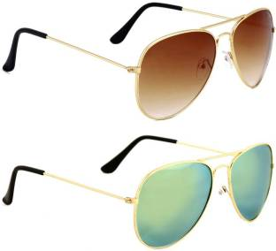 c21f8617b71a Buy TOMMY FASHION Aviator Sunglasses Green For Men & Women Online ...