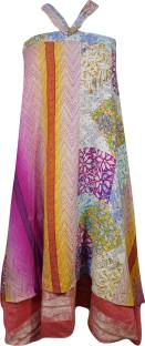 Indiatrendzs Printed Women's Wrap Around Multicolor Skirt