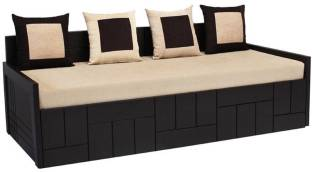 Auspicious Home Nelson  4 Pillows  Double Engineered Wood Sofa Bed Finish Color   Brown Mechanism Type   Pull Out Delivery Condition   Knock Down