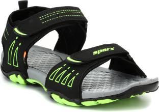 f3f063c482cc8a Sparx Men Black Green Sandals