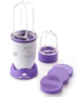 BMS Lifestyle BMS Nutri Grible 400 W Juicer Mixer Grinder (2 Jars, Purple)