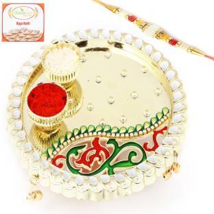 Ghasitaram Gifts Designer Rakhi Thali, Sweets