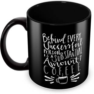 Tuelip Printed quotes about Success of Cofffee for Tea And Coffee 350 ml Ceramic Mug