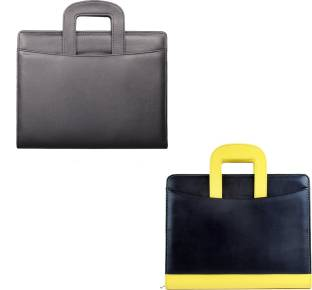 coi leatherite black and blackyellow file folder and resume folder for documents and certificate