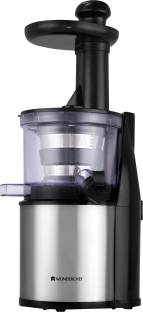 WONDERCHEF cold press juicer compact Cold press juicer 200 W Juicer (2 Jars, Silver and Black)