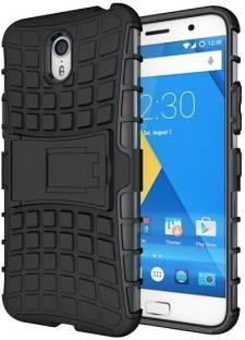 Ideal Back Cover for Motorola Moto E3 Power (Black) (Armour) (Kickstand