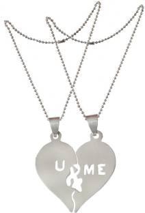 Men style pendants lockets buy men style pendants lockets online men style romantic couple lovers u and me broken heart heart shaped jewelry aspn0070051 mozeypictures Images