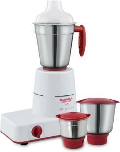 MAHARAJA WHITELINE Solo MX 122 500 W Mixer Grinder (3 Jars, Red, White)