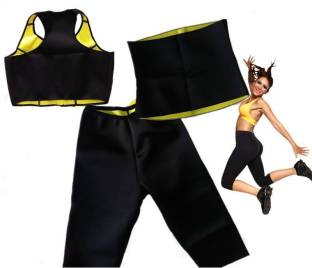e6115dcd9b Blooming India Fit Fat Cutter Sliming Combo Belt Pant Top black Slimming  Belt
