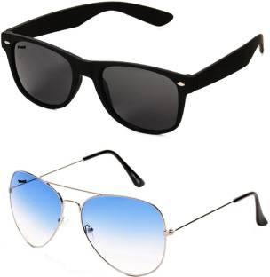 567e8f9fa21 Buy City Optical Wayfarer Sunglasses Black For Men   Women Online ...