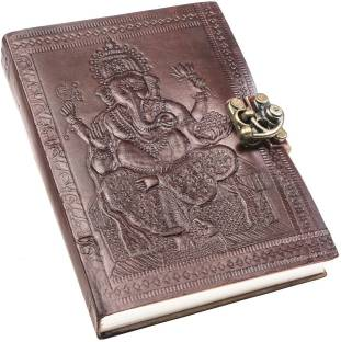 Anshika International genuine leather notebook diary A6 Diary unruled 100 Pages