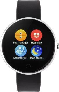 Metronaut X9 Round Dial Smartwatch with Heart Rate Sensor and Pedometer (Black)