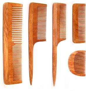 Woolsy™ Boar Bristles Hair Brush & OakWood Hair Brush Combo