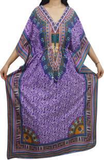 Indiatrendzs Printed Light Viscose Women Kaftan